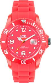 Ice-watch Neon Red Rubber Strap Red Dial Watch Ss.nrd.bb.s.12