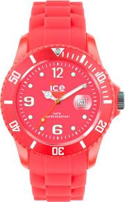 Ice Watch Neon Red Rubber Strap Red Dial Watch Ss.nrd.bb.s.12