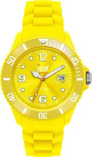 Ice Watch Neon Yellow Rubber Strap Yellow Dial Watch Ss.nyw.bb.s.12