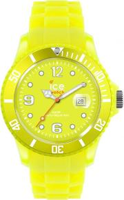 Ice Watch Neon Yellow Rubber Strap Yellow Dial Watch Ss.nyw.s.s.12