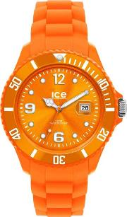 Ice Watch Steel Orange Rubber Strap Orange Watch Si.oe.s.s.12