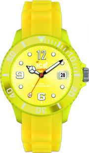 Ice-watch Steel Yellow Rubber Strap Yellow Dial Watch Si.yw.b.s.12