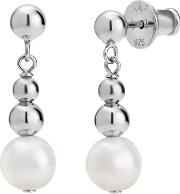 Coast Sterling Silver Grad Ball Pearl Earrings Coae Rw