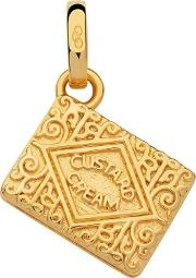 18ct Gold Vermeil Custard Cream Biscuit Charm 5030.2537