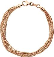 Essentials Rose Gold Plated Silk 10 Row Bracelet 5010.3678