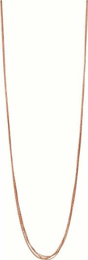 Essentials Rose Gold Plated Silk 10 Row Necklace 5020.3375