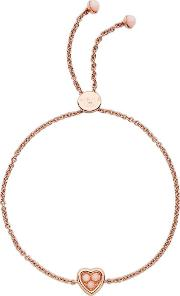 My Open Heart Rose Gold Plated Pink Opal Stone Toggle Bracelet 5010.4237