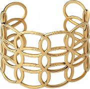 Ovals Gold Plated Wide Cuff Bangle 5010.4176