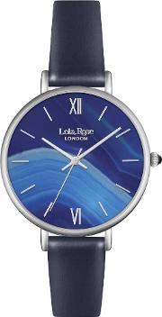 Ladies Sapphire Agate Leather Strap Watch Lr2015