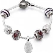 Sterling Silver 21cm Bracelet And Beads