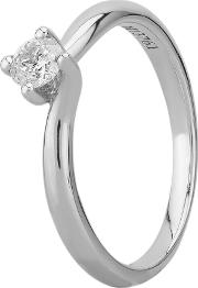 Grace 18ct White Gold 0.25ct Four Claw Twist Diamond Solitaire Ring C13rg001 025w