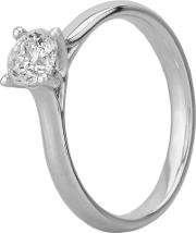 Starlight 18ct White Gold 0.50ct Four Claw Diamond Solitaire Ring C10rg001 050w