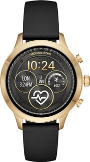 Access Ladies Runway Gold Plated Black Rubber Strap Smartwatch Mkt5053