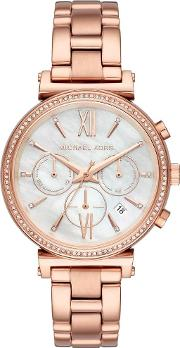 Ladies Sofie Rose Gold Plated Watch Mk6576