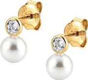 Bella Yellow Gold Pearl Drop Earrings 142662012