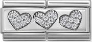 Classic Double Link 3 Hearts Charm 33073202