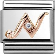 Classic Rose Gold Letter N Charm 43031014