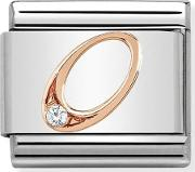Classic Rose Gold Number 0 Charm 43031500