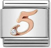 Classic Rose Gold Number 5 Charm 43031505