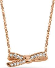 Mycherie Rose Gold Small Bow Necklace 146304011