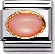 Oval Stones Pink Coral Charm 03050210