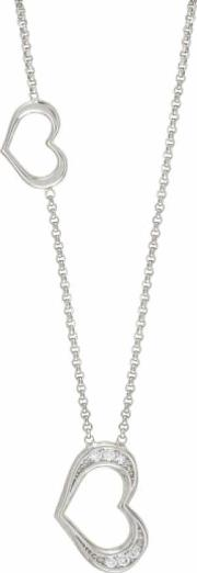 Unica Silver Two Heart Necklace 146404001