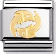 Zodiac 18ct Gold Plated Pisces Charm 03010412