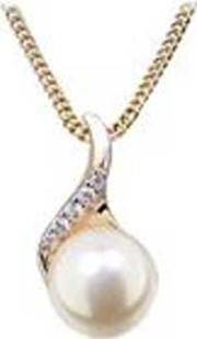 Ladies Two Tone Pearl Necklace P5010rgf
