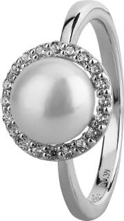 Pearl And Cubic Zirconia Dress Ring R5029fpcz N