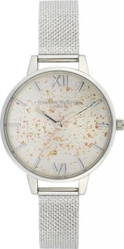 Celestial Demi Dial Boucle Mesh Strap Watch Ob16gd14