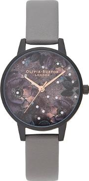 Celestial Matte Black And London Grey Strap Watch Ob16ad50