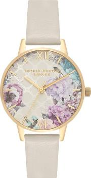 dd3487cccd64c9 Glasshouse Gold And Nude Leather Strap Watch Ob16eg99