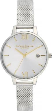 Sunray Demi Dial Silver Boucle Mesh Strap Watch Ob16de02