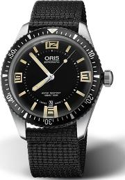 Mens Divers Sixty Five Black Watch 01 733 7707 4064 07 5 20 24