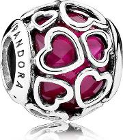 Cerise Encased In Love Charm 792036ncc
