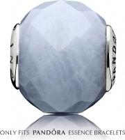 Silver Blue Agate Patience Charm 796044bla