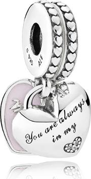 Mother And Daughter Hearts Charm 792072en40