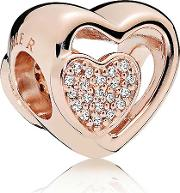 Joined Together Heart Charm 781806cz