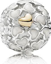 Silver 14ct Gold Abundance Of Love Openwork Charm 791283en23