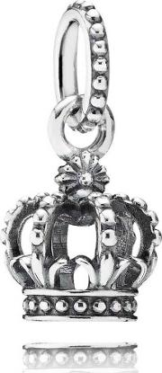 Silver Crown Dropper Charm 791376