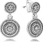 Silver Cubic Zirconia Radiant Elegance Earrings 290688cz