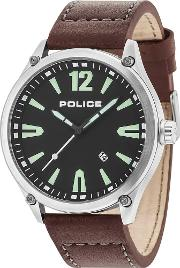 Mens Black Denton Watch 15244jbs02