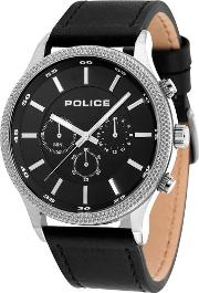 Mens Black Pace Watch 15002js02