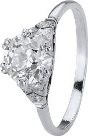Pre Owned 1.32ct Old Cut Diamond Solitaire Ring 4112345