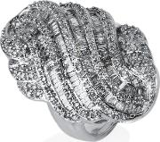 Pre Owned 14ct White Gold Diamond Cluster Ring 4332512