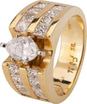 Pre Owned 14ct Yellow Gold 2.90ct Diamond Ring 4312125
