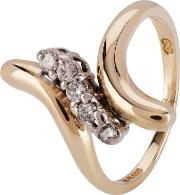 Pre Owned 14ct Yellow Gold Diamond Twist Ring 4111483
