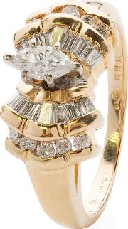 Pre Owned 14ct Yellow Gold Marquise Diamond Ring 4332820