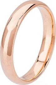 Pre Owned 18ct Rose Gold 4.5mm Plain Bnad Ring 4187655