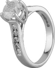 Pre Owned 18ct White Gold 1.59ct Diamond Ring I499610 441